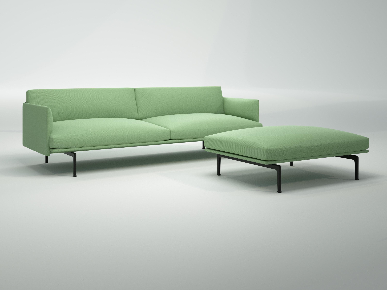 Outline Sofa Chaise Longue Blenderboom